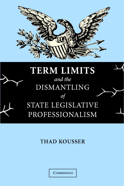 Cover Image: Term Limits and the Dismantling of State Legislative Professionalism